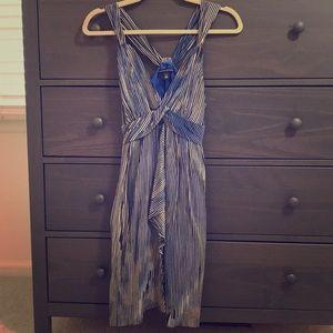 Gorgeous blue silk dress